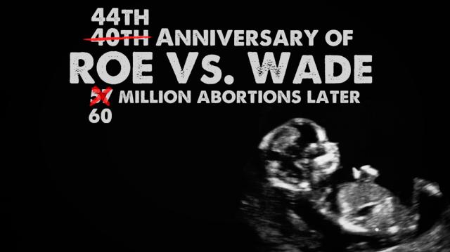 Roe v Wade 44th Anniversary
