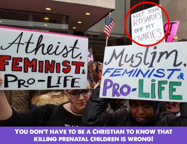 atheist muslim feminist pro-life