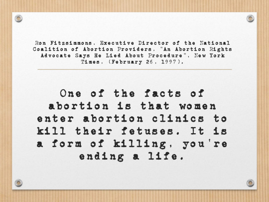 Abortion Lie Quote