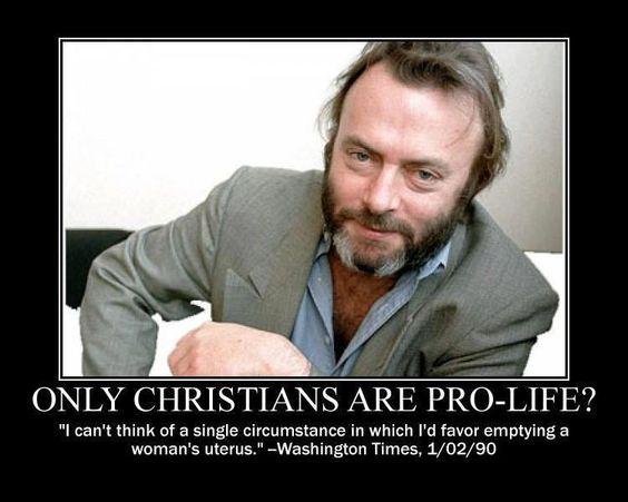 Christopher Hitchens Pro-Life Atheist