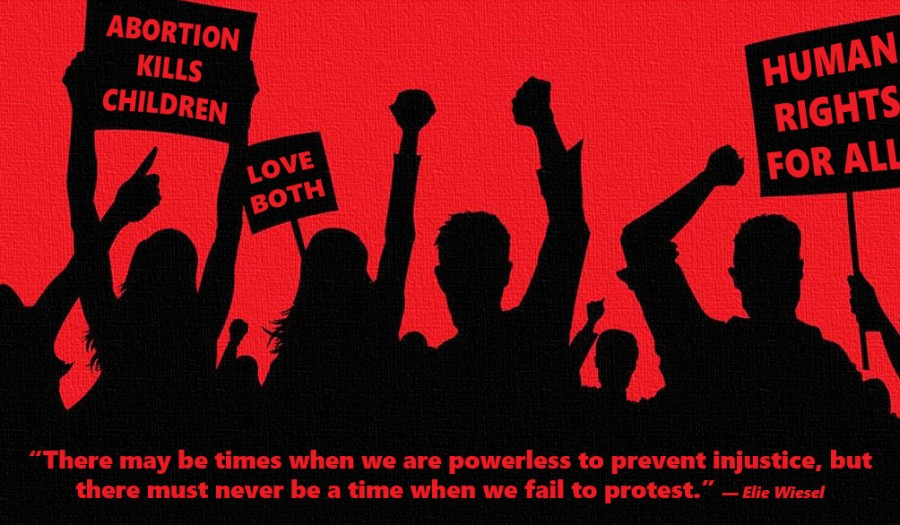 Never Fail To Protest Injustice