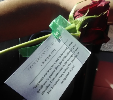 Red Rose Rescue Abortion Message